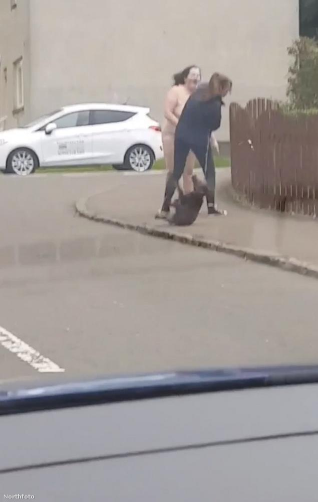 A kutyáját sétáltató hölgyet váratlanul érte az első ütés, de nem hagyta magát