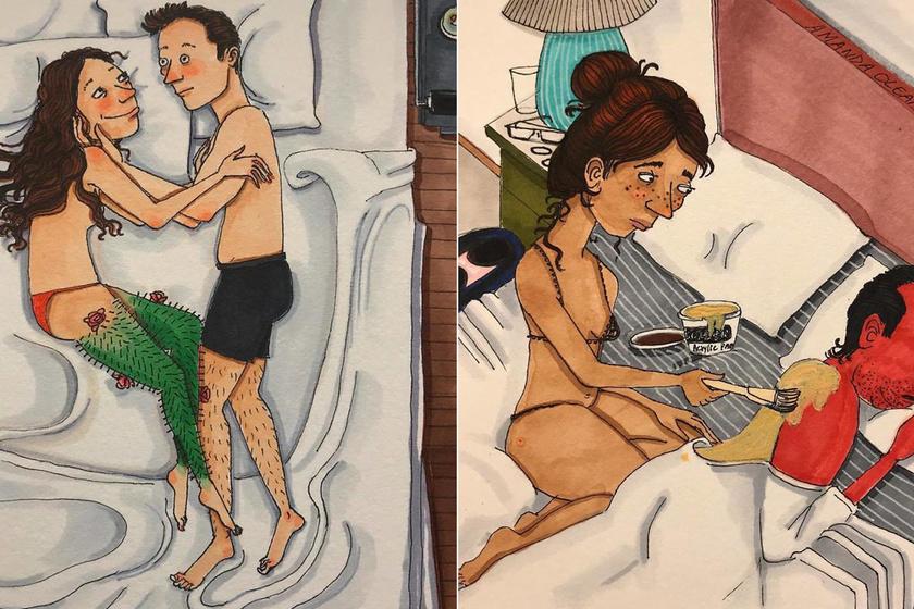 Azt rajzolja le a párkapcsolatokról, amit más nem láthat - Őszinte képeken a szerelmesek intim pillanatai