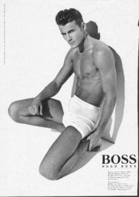 Alex Lundqvist a Boss modelljeként a '90-es évek közepén