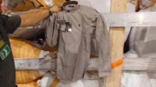 320 millió forintnyi hamis ruhát találtak egy török kamionban