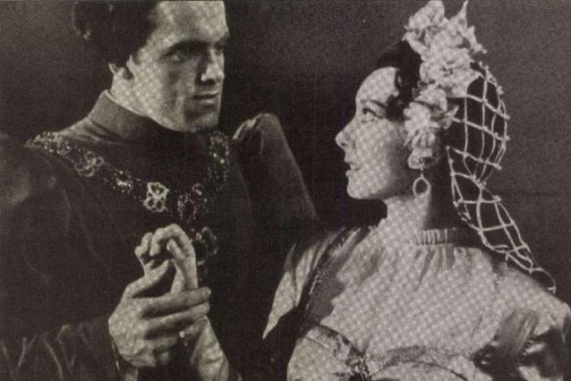 Szeleczky Zita Szabó Sándorral a Rómeó és Júliában a Nemzeti Színház előadásán, 1940 májusa
