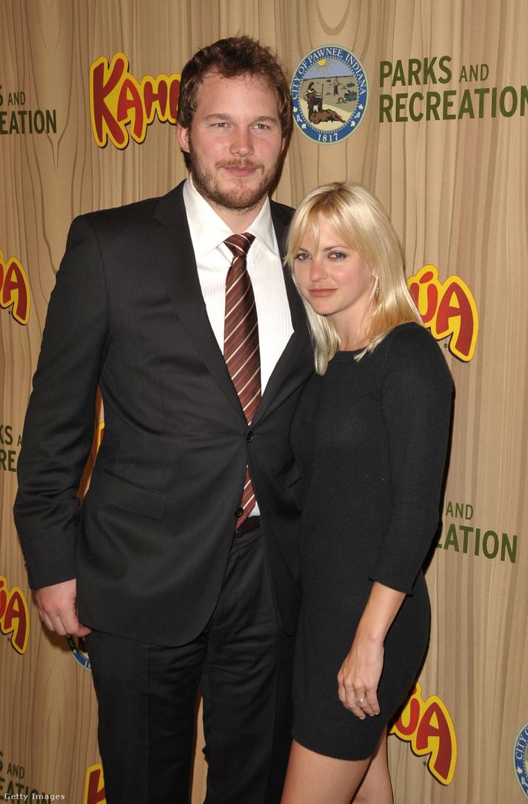 Chris Pratt és Anna Faris a Városfejlesztési osztály első epizódjának premiervetítésén 2009-ben.