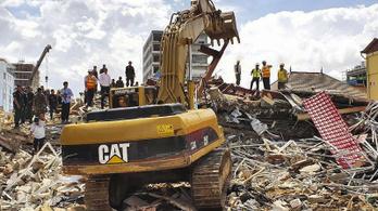 Összedőlt egy hétemeletes ház Kambodzsában, legalább kilencen meghaltak