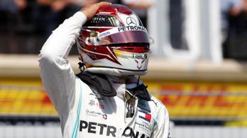 Hamilton pályacsúccsal vitte a francia pole-t, Vettelt két McLaren is megverte