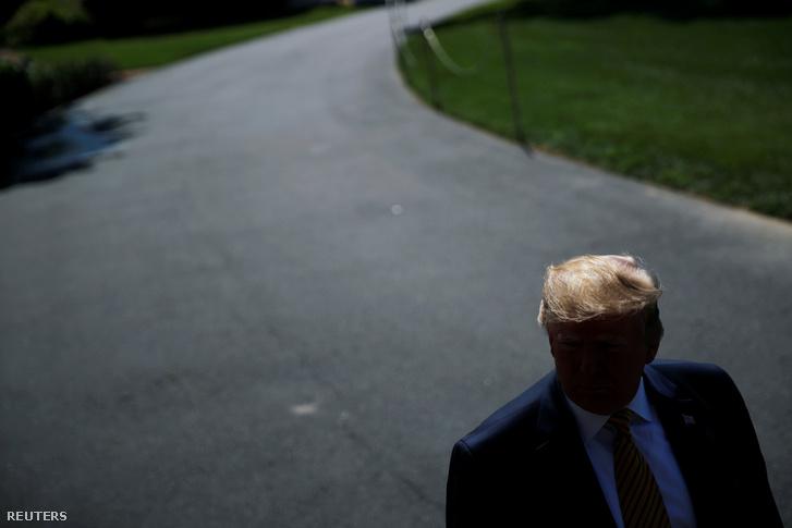2019. június 22. Trump elnök elhagyja a Fehér Házat, hogy az Camp David-i elnöki nyaralóban töltsön pihenéssel néhány napot