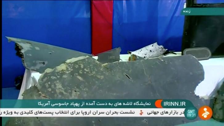 Az iráni média felvételeket mutatott be a lelőtt amerikai drónról