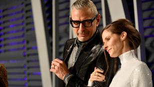 Jeff Goldblum összeöltözős randit tartott feleségével