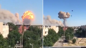 Tűz ütött ki egy kazahsztáni lőszerraktárban, kiürítenek egy várost