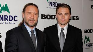 Leonardo DiCaprio eladott egy dinoszauruszkoponyát a részeg Russell Crowe-nak