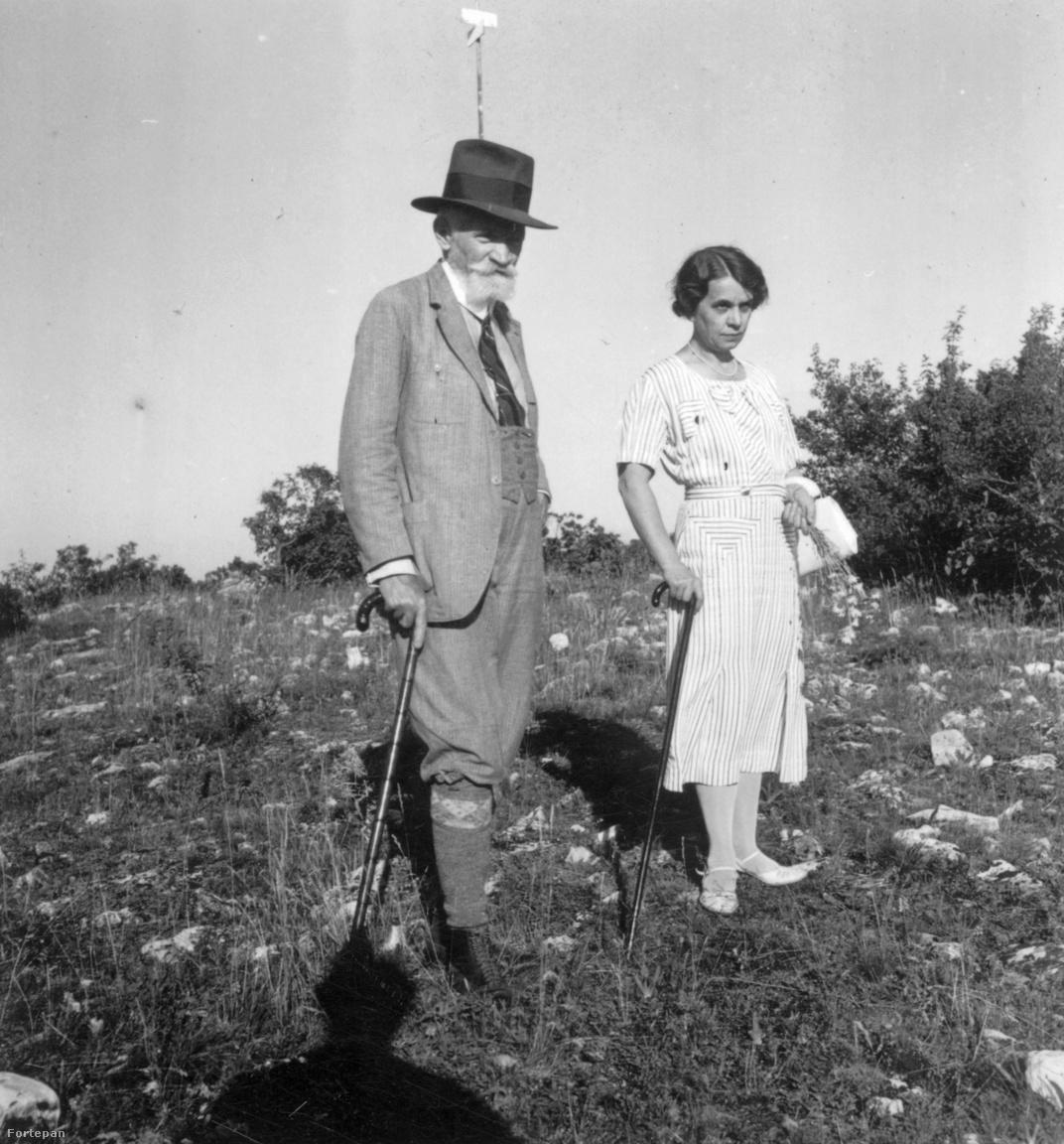 1936. Magyarország, Balatonfüred Cholnoky Jenő földrajztudós feleségével, Fink Idával.