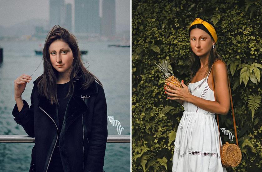 Mona Lisa, mint egyedi szépségű influencer.