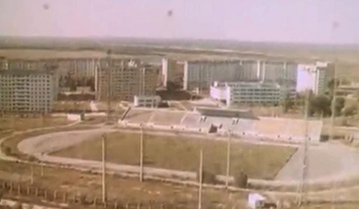 Az Avanhard Stadion az atomkatasztrófa előtt