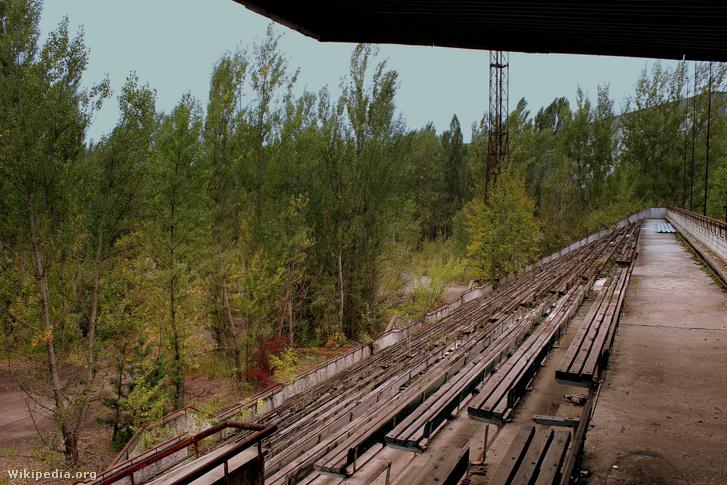 Az Avanhard Stadion lelátója 2013-ban