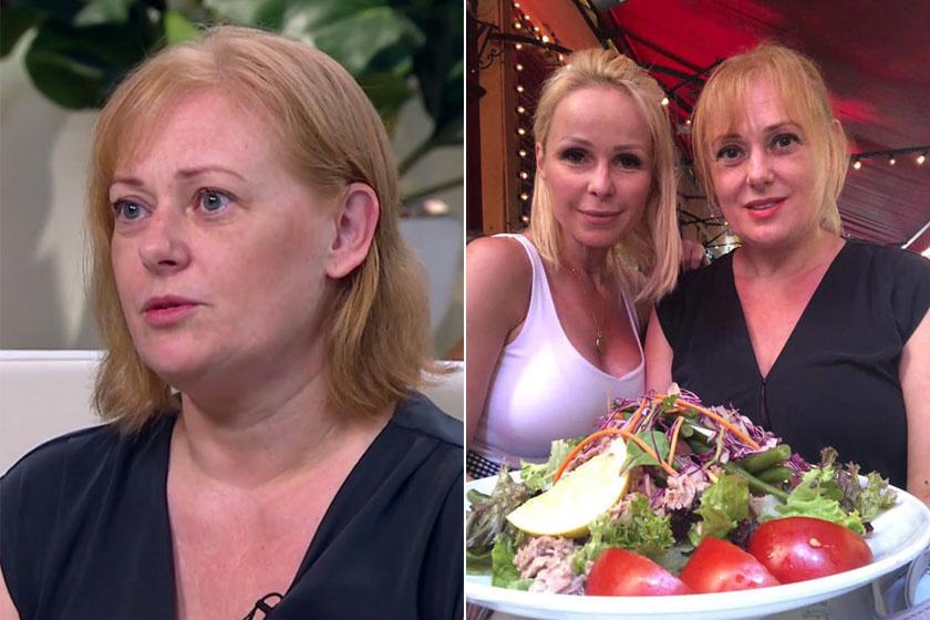 Cseke Katinka a Mokkában és adás után barátnőjével, Köllő Babettel, illetve egy egészséges ebéddel.