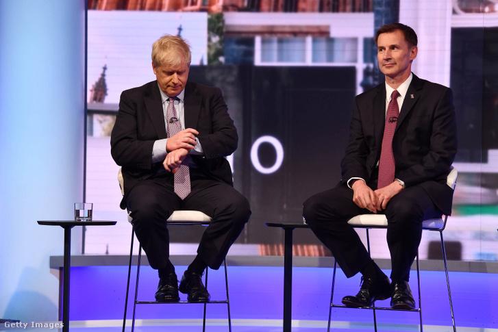 Boris Johnson és Jeremy Hunt 2019. június 18-án.