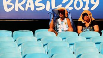 Ha nem férfi Eb vagy vb, konganak a futballtornák lelátói