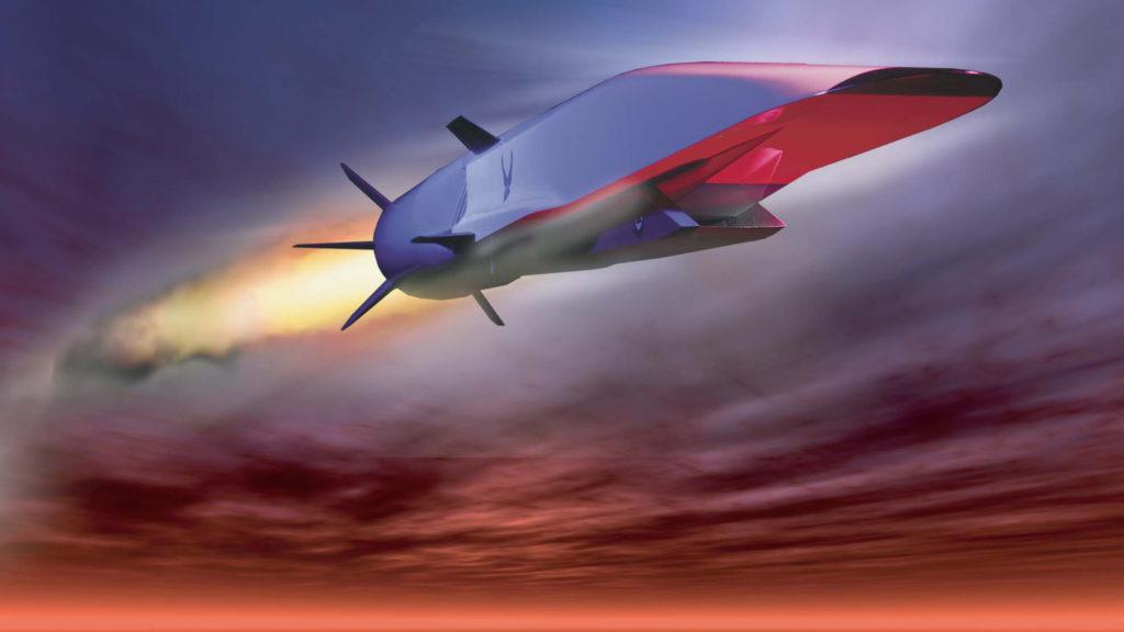 Hiperszónikus rakéta renderelt képe