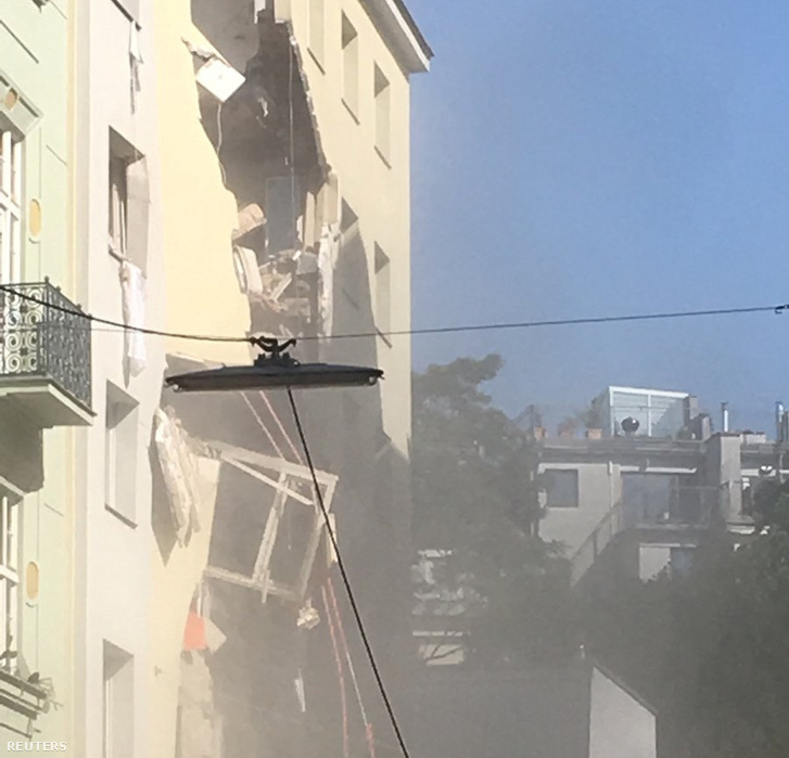 Gázrobbanás Bécsben 2019. június 26-án.