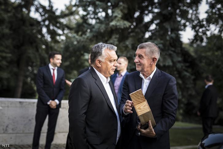 Orbán Viktor miniszterelnök (k) és Andrej Babiš cseh kormányfő (j) találkozója Budapesten 2018. augusztus 31-én