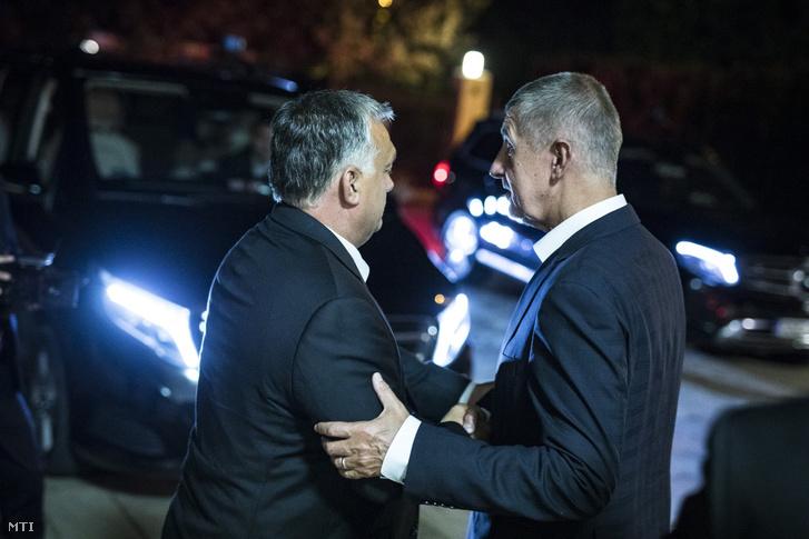 Orbán Viktor miniszterelnök (b) és Andrej Babis cseh kormányfő találkozója Budapesten 2018. augusztus 31-én
