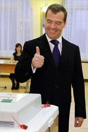 Dmitrij Medvegyev orosz elnök