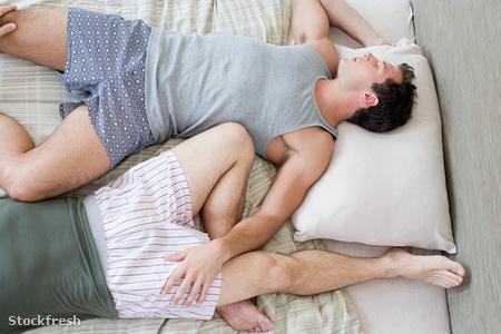 stockfresh 1358646 gay-couple-lying-on-bed sizeM