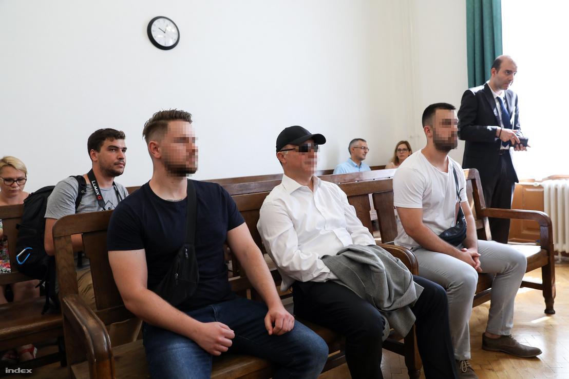 Nikola Gruevski (centre) at the Budapest Metropolitan Court on 27 June 2019.