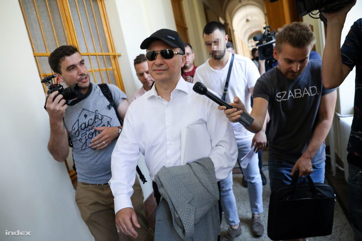 Nikola Gruevski leaving the court on 27 June 2019.