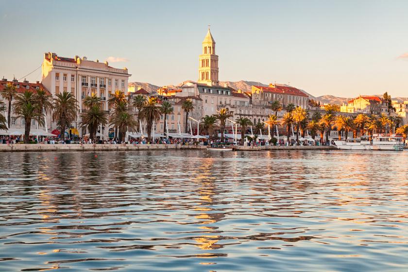 Gyönyörű tengerparti város, ahova egy este alatt eljuthatsz a MÁV-val: Split azonnal elvarázsol