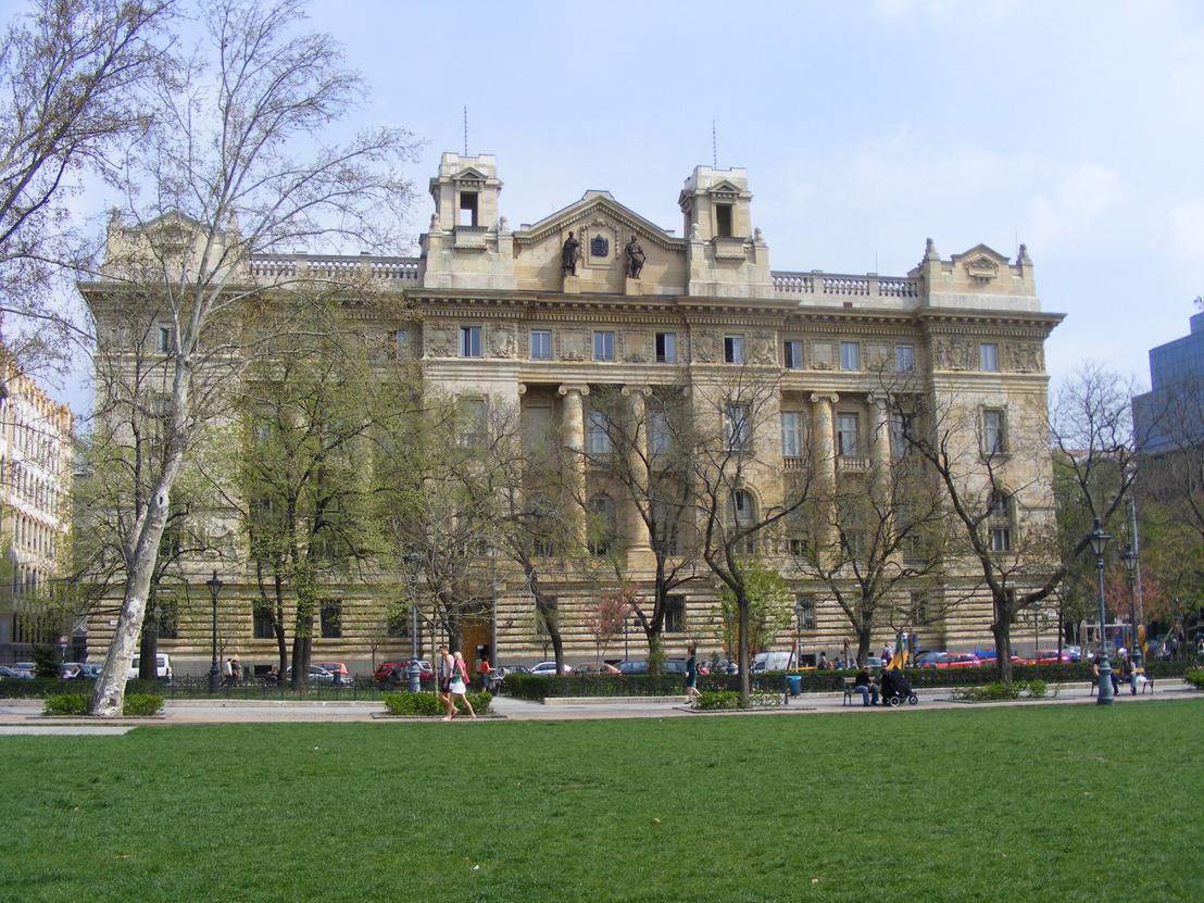 Magyar Nemzeti Bank épületének nyugati homlokzata. - 2009, Bu