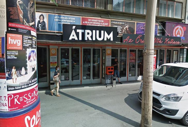Az Átrium Film-Színház épülete a Margit körúton