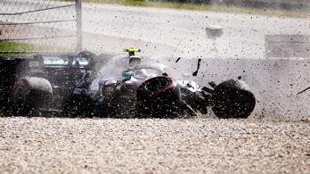 Verstappen és Bottas is nagyot bukott, Vettel megúszta