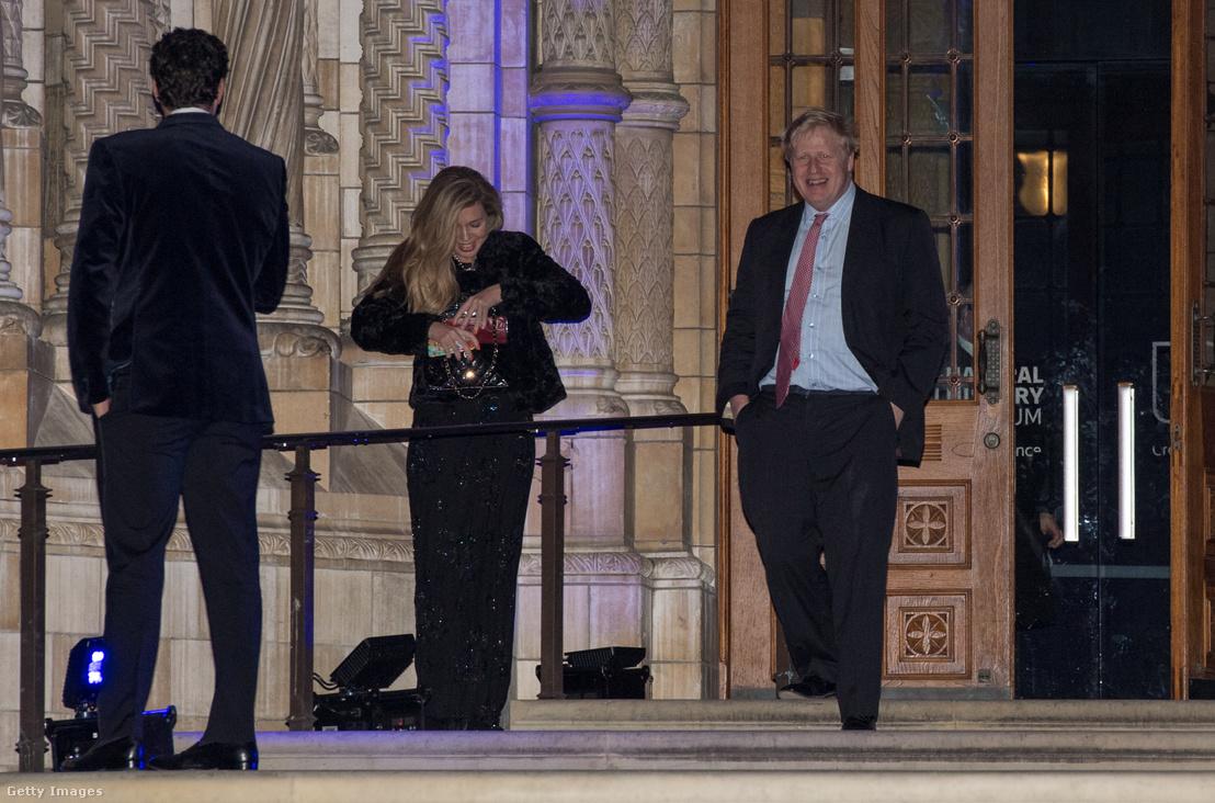 Carrie Symonds és Boris Johnson 2018. február 7-én.