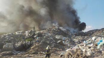 Kigyulladt a jánossomorjai hulladéklerakó