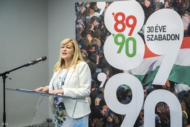 Schmidt Mária a Terror Háza Múzeum főigazgatója 2019. június 16-án.