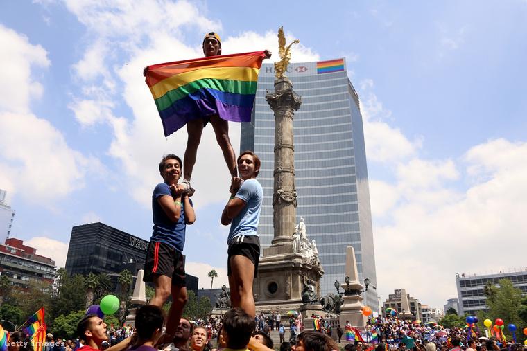 Ez már Mexikóváros, ahol szombaton volt a pride.