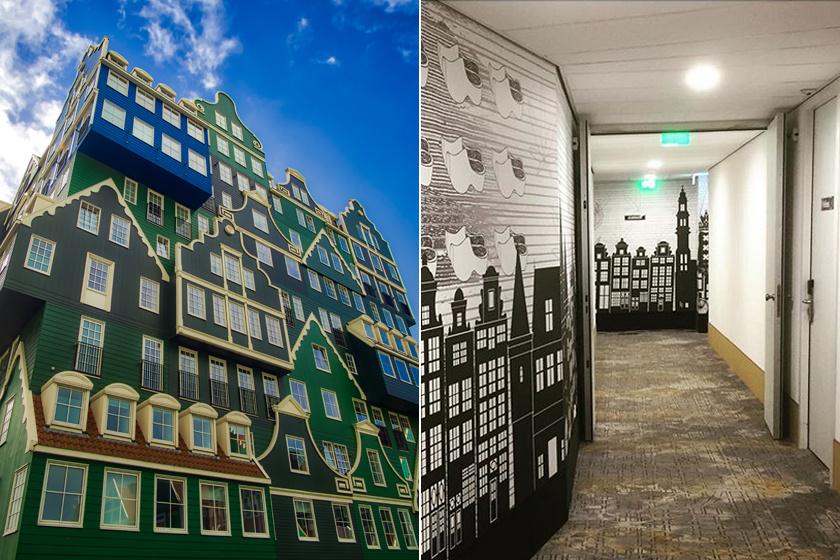 A hollandiai Zaandamban megtalálható Inntel Hotelt Wilfred van Winden tervezte, a hetven Zaandam-stílusú faházikóval pedig a környék jellegzetes látképére akarta felhívni a figyelmet.