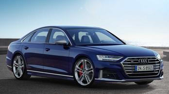 Itt a vadiúj Audi S8, és benzines