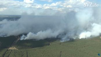 Több száz hektárnyi terület lángol Németországban