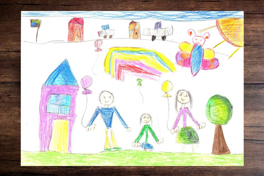 Hogy rajzolja saját magát a gyerek? Figyeld meg a képein ezt a 8 jellegzetességet!