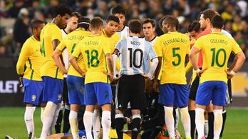 A brazil kapitány nem alszik, az argentin Messivel ugrat