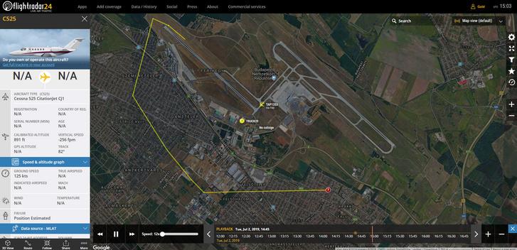 cessna-525-leszakadt-csomagterajto-ferihegy-radar