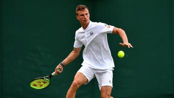 Fucsovics felfázással együtt hozta eddigi legjobbját Wimbledonban
