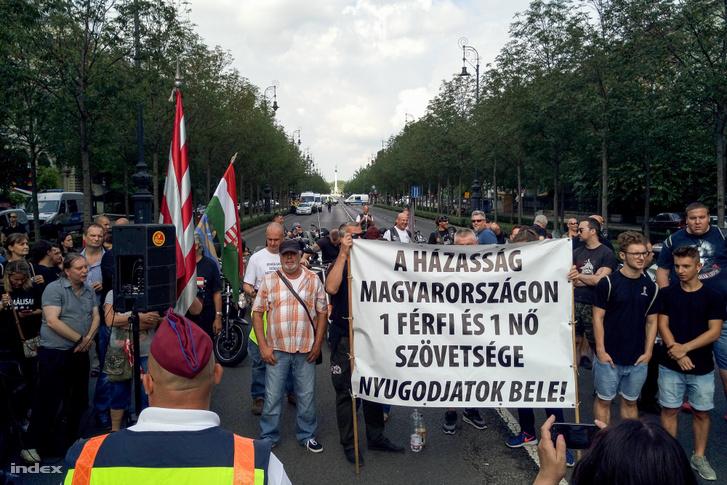 2018-as Budapest Pride ellentüntetői július 7-én