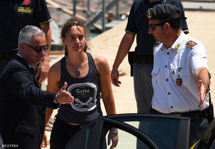 Carola Rackete, a Sea-Watch 3 kapitánya