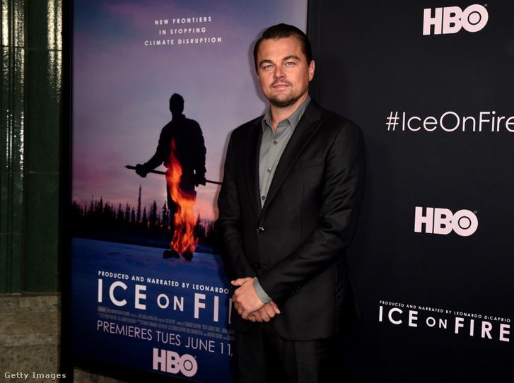 Leonardo DiCaprio az Ice on Fire című, környezetvédelemről szóló film bemutatóján