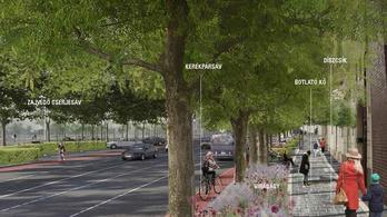 A zölddé varázsolt Árpád út tervét féltik a kerékpárosok