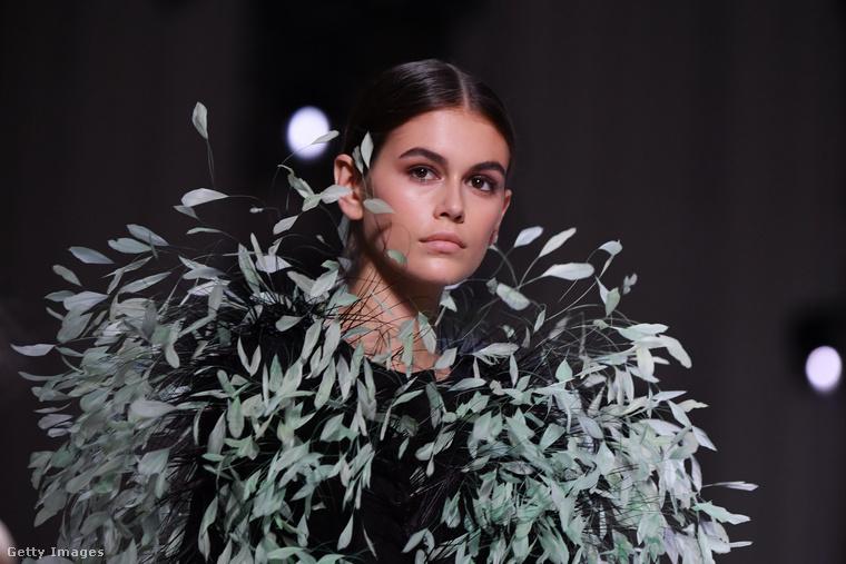 Ez a tollkazal, amit itt visel, a Givenchy divatház ízlését és ügyességét dicséri az haute couture, azaz az úgynevezett magasszabászat jegyében.
