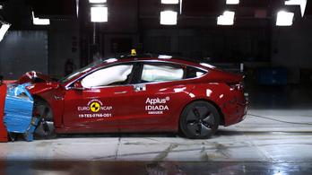 Az EuroNCAP is megtörte a Tesla Model 3-ast