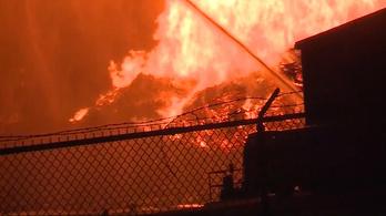 45 ezer hordó bourbont pusztított el egy raktártűz Kentuckyban